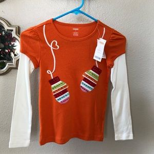 Gymboree  NWT mitten sequin long sleeve tee